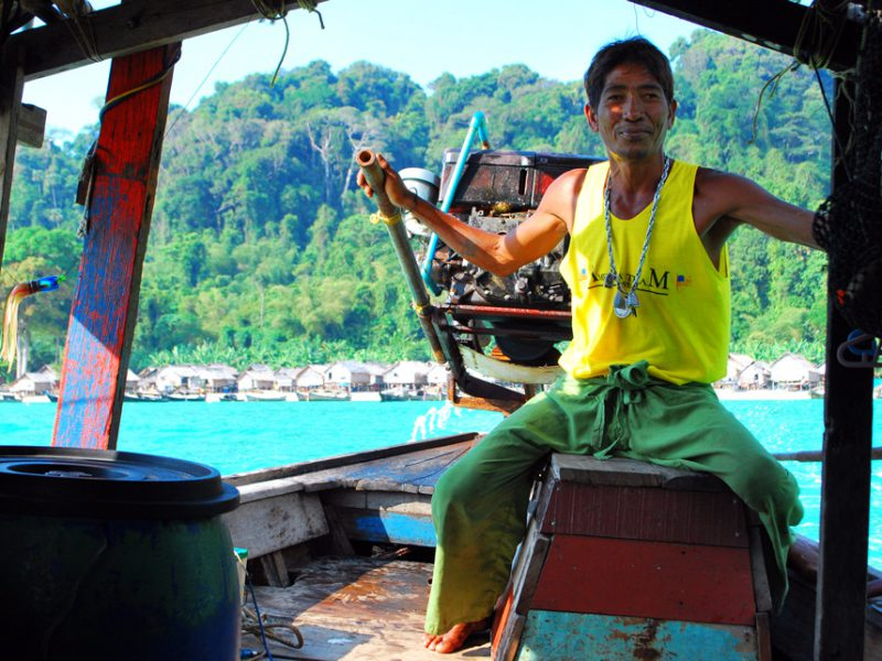 Moken captain at Surin Islands