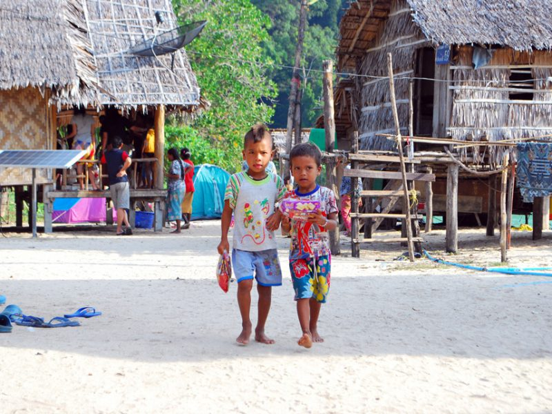 Moken kids at the Surin Islands