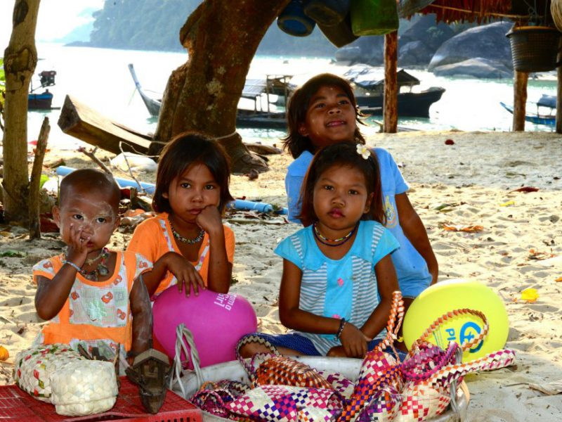 Moken children at the Surin Islands