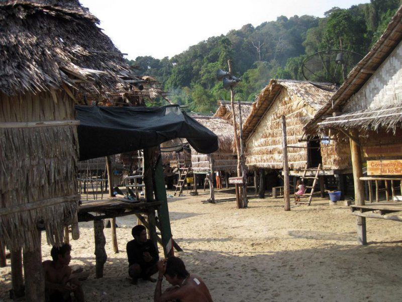 Moken houses at the Surin Islands