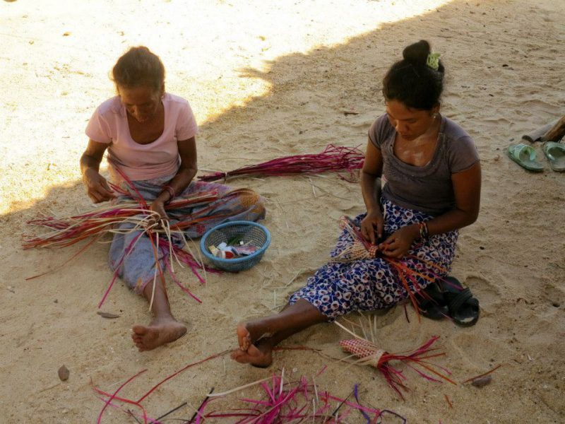 Weaving Moken Crafts at Surin Islands