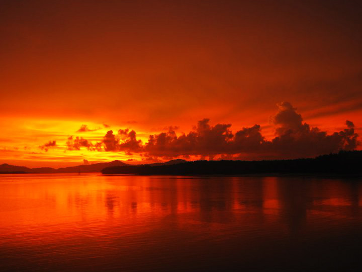 Amazing sunsets at the Surin Islands