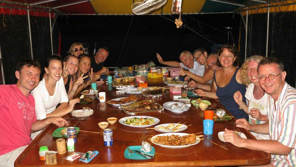 Dining on a Snorkel Liveaboard