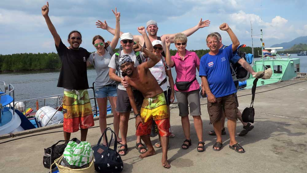 Snorkelling group at Kura Buri