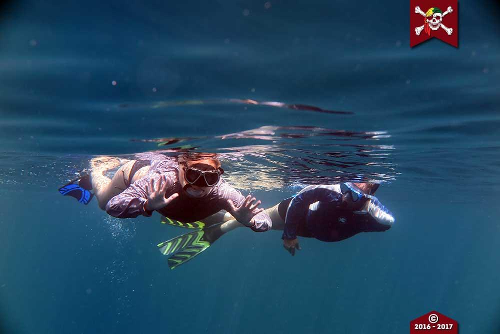 Snorkellers in the SImilan Islands