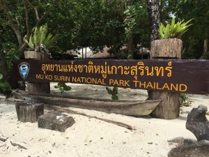 Entry of the Mu Ko Surin National Park Thailand
