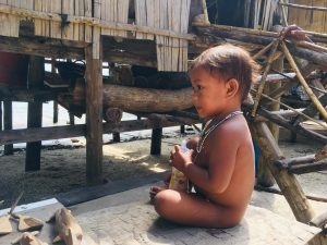 Moken little boy in Surin